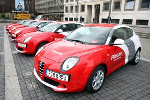 Vorstellung des Flinkster in Stuttgart am 9.03.2009; DB Carsharing; Mietauto; Alfa Romeo Nutzungsrecht: Frei